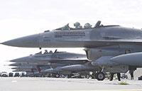 United States & Polish F-16 Fighting Falcons Take Off