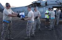 Sailors Deliver Food & Water in Support of Hurricane Maria Relief Efforts