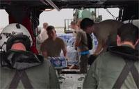 Navy and Air Force Deliver Water, Food to Puerto Rico