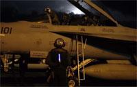 Night Flight Ops Aboard Navy's Newest Carrier