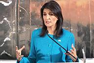 U.N. Ambassador Nikki Haley Holds Press Conference