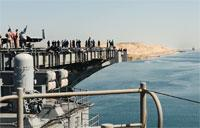 USS George H.W. Bush Transits the Suez Canal