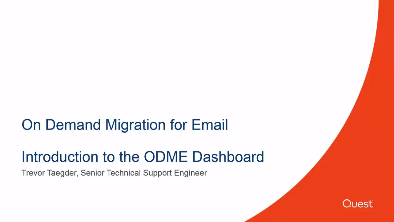 On Demand Migration for Email - Video and Tutorials