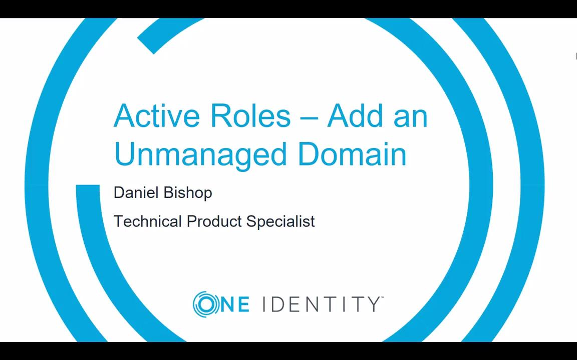 cf27c668b8d7e Active Roles - Add an Unmanaged Domain