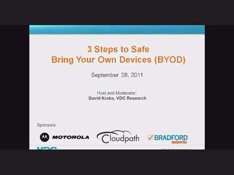 Three Steps to Safe Bring Your Own Device (BYOD)