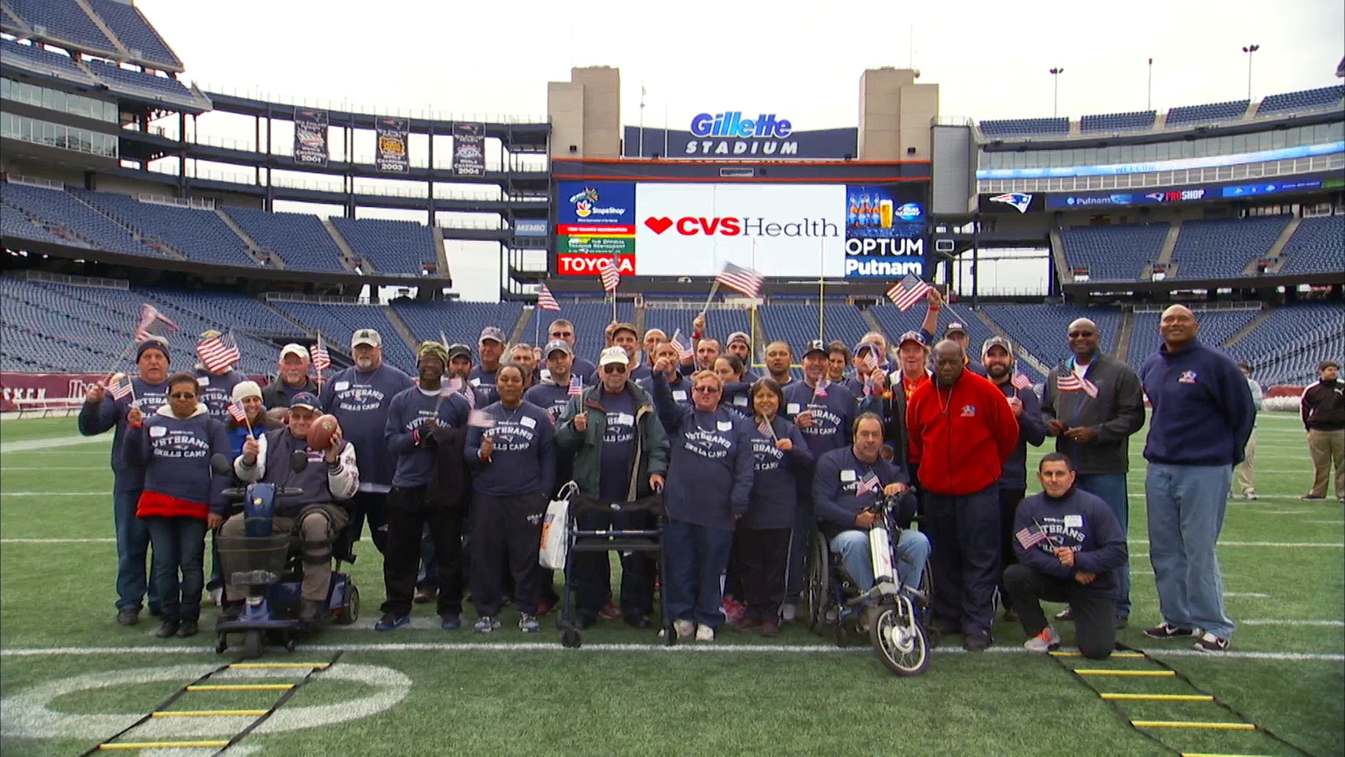 Veterans Skills Camp at Gillette Stadium 2014