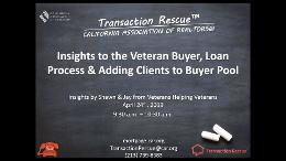 Veterans VA Loans and Adding Clients to Buyer Pool