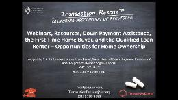 Webinars Resources for Renters and the First Time Home Buyer