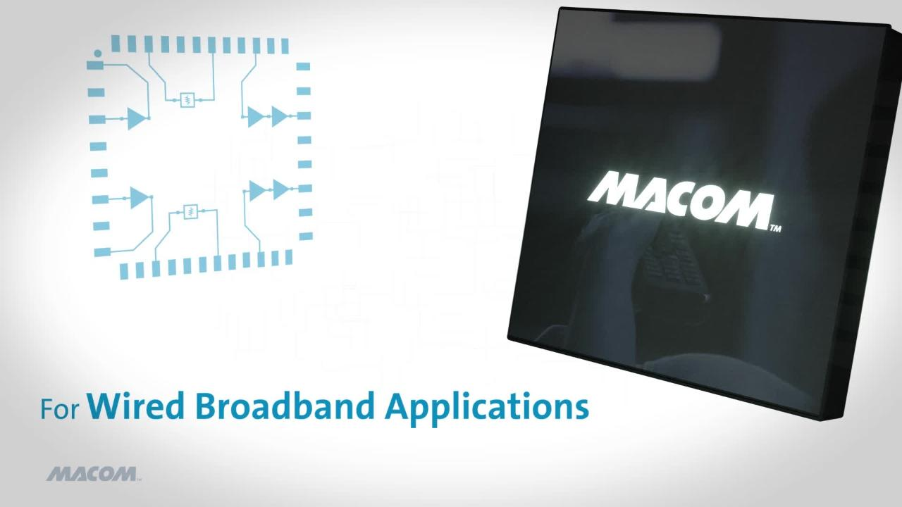 Macom Training Simon Xt Wiring Diagram Designed For Wired Broadband Applications Customers Who Need High Gain Superior Linearity And Low Noise Figure