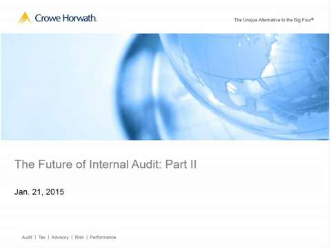 The Future of Internal Audit – Part II (Webinar Recording