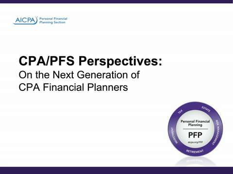 CPA:PFS Perspectives on the Next Generation of CPA ....