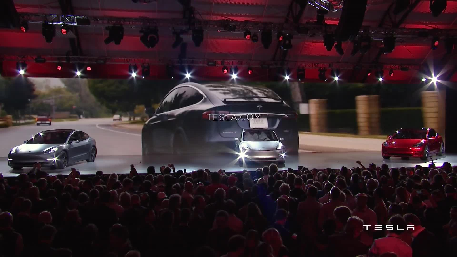 Video: Tesla Unveils All-New Model 3