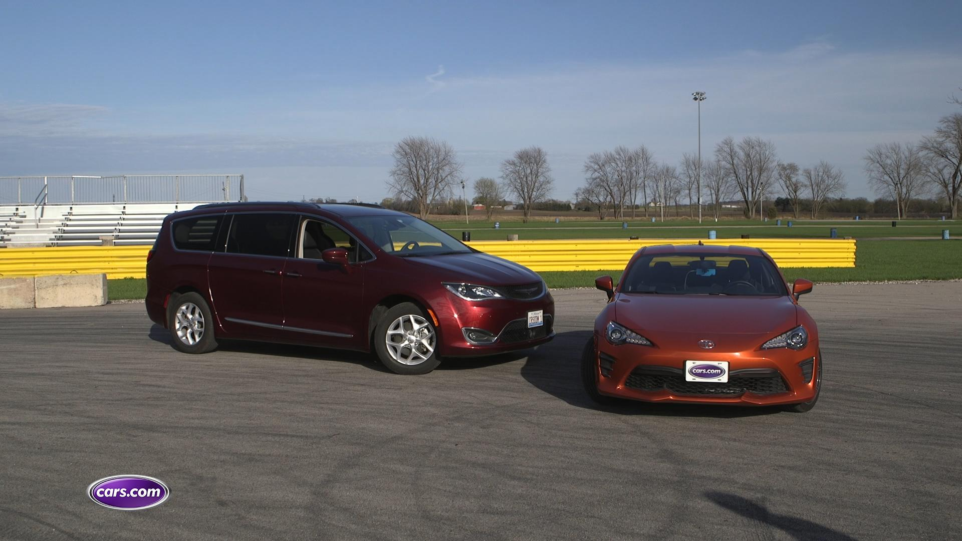 Video: Dragstrip Challenge: 2017 Chrysler Pacifica vs. 2017 Toyota 86