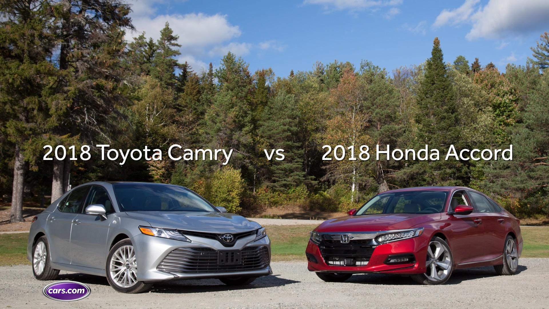 Camry Vs Accord >> 2018 Toyota Camry Vs 2018 Honda Accord Video News Cars Com