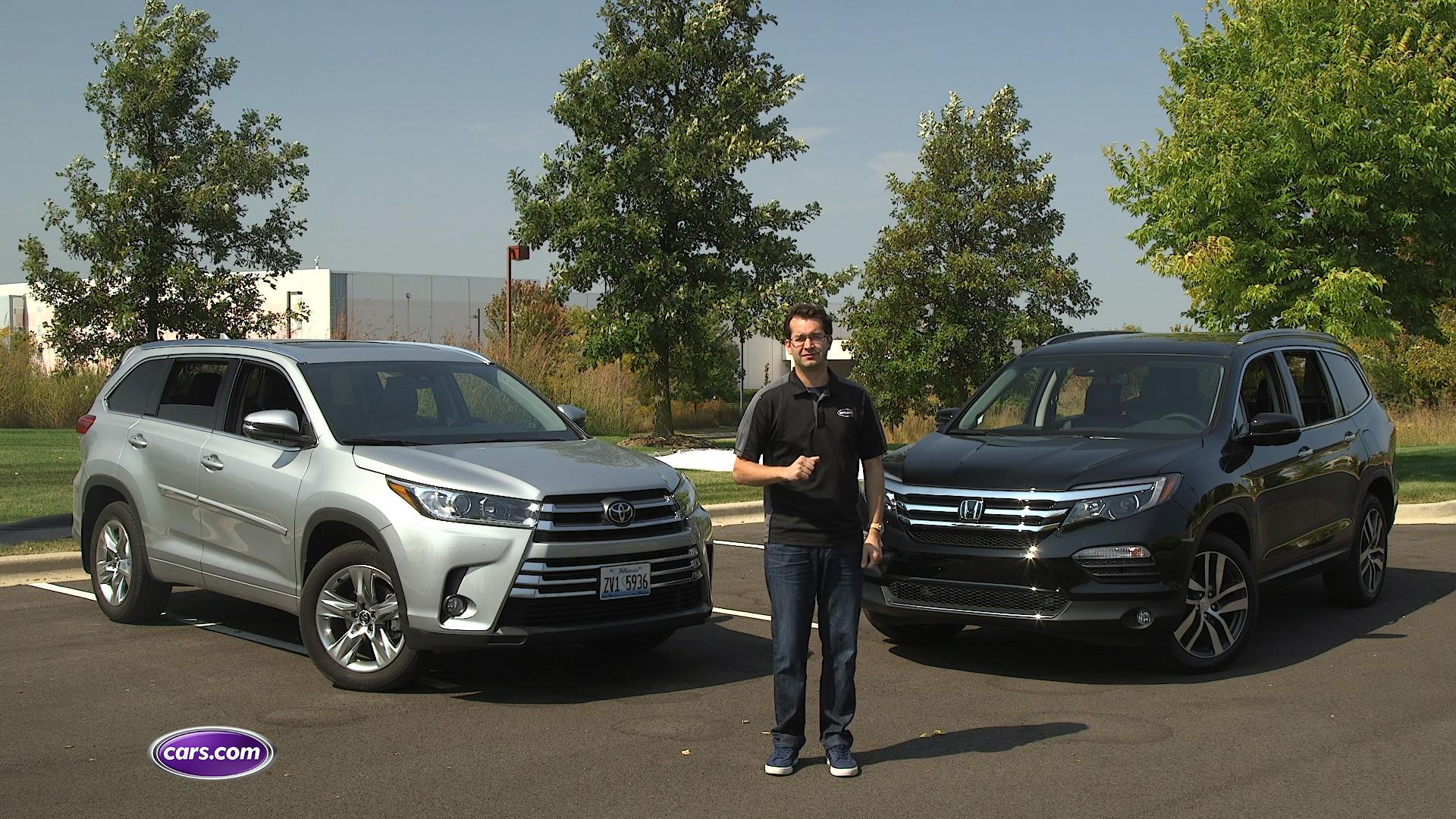 Highlander Vs. Pilot Video: Which 2017 3-Row SUV Should You Buy?