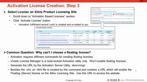 Vivado Licensing and Activation Overview
