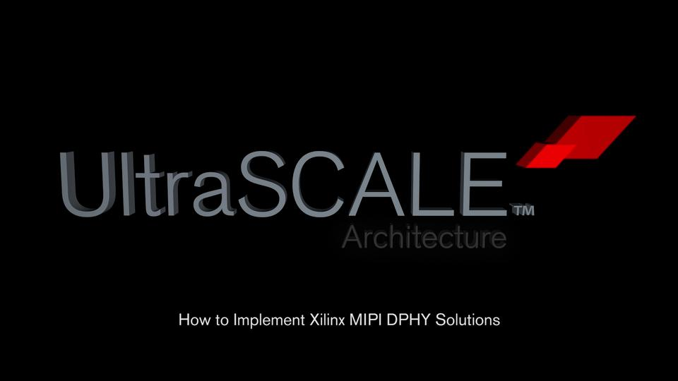 How to Implement MIPI D-PHY Solutions