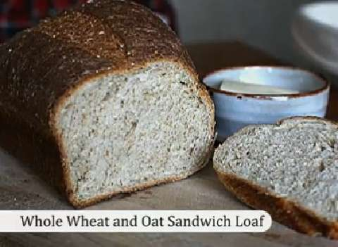 Whole Wheat and Oat Sandwich Bread recipe