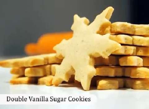 How to make Double Vanilla Sugar Cookies