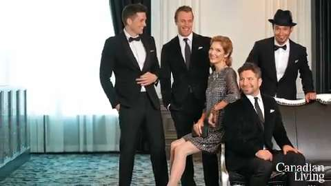 Canadian Living styles The Tenors in hot holiday fashions