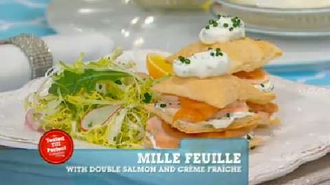 Best Recipes Ever: Mille Feuille with Double Salmon and Creme Fraiche