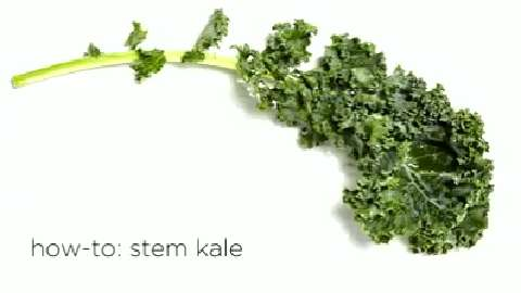 How to stem kale