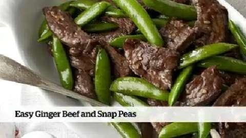 Quick and easy dinner: Easy Ginger-Beef and Snap Peas