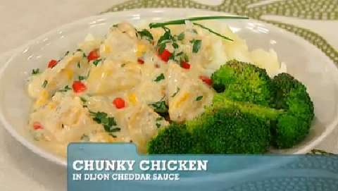 Best Recipes Ever: Chunky Chicken in Dijon Cheddar Sauce