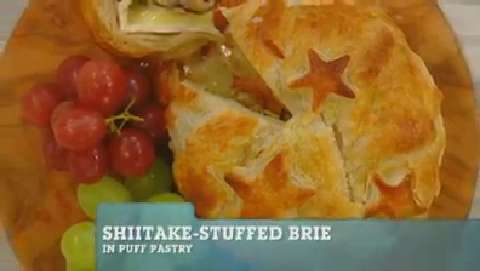 Best Recipes Ever: Shiitake-Stuffed Brie in Puff Pastry