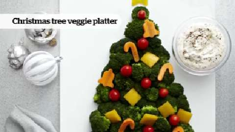 How to create a Christmas tree veggie platter