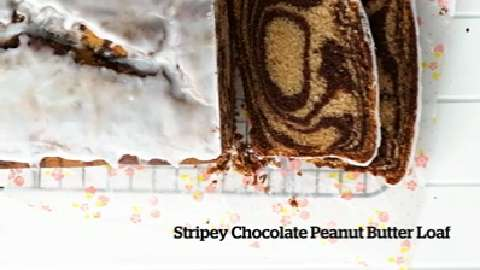 How to make Stripey Chocolate Peanut Butter Loaf