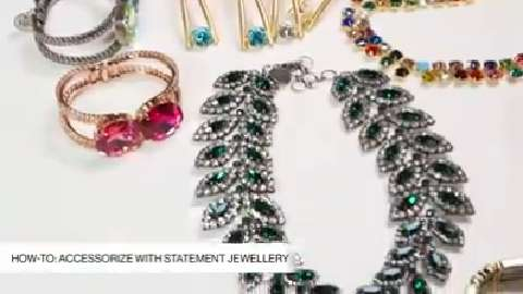 How to accessorize with statement jewellery