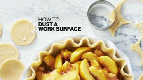 How to dust a work surface with flour