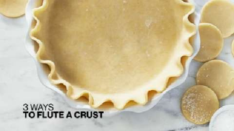 How to flute a pie crust three different ways