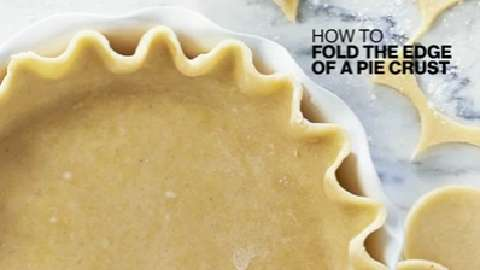 How to fold the edge of pie crust
