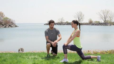 Tone your thighs with this easy lunge kick