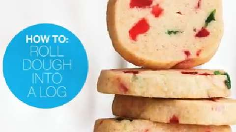 How to roll cookie dough into a log