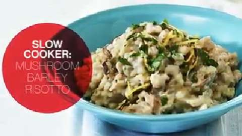 How to make Slow Cooker Mushroom and Barley Risotto