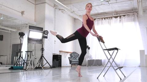 Ballet barre hamstring workout