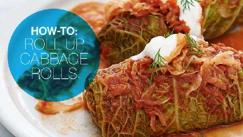 How to roll up cabbage rolls