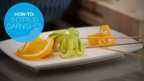 How to make 3 simple citrus garnishes