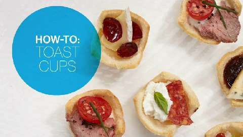 How to make toast cups