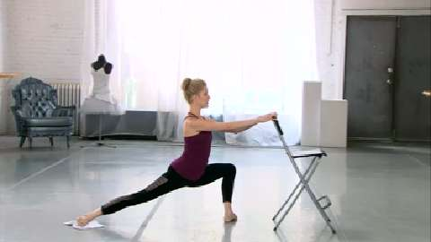 Ballet barre inner thigh workout