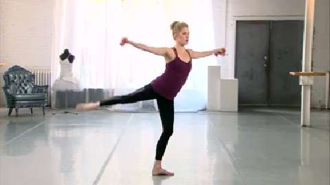 Ballet barre arm and leg workout