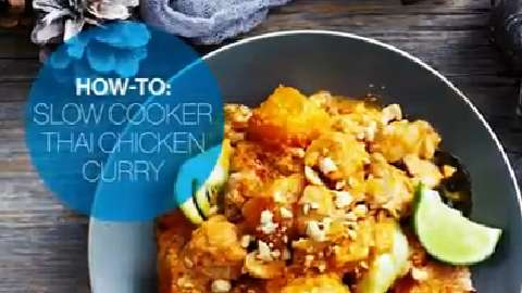 How to make Slow Cooker Thai Chicken Curry