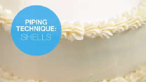 Cake decorating: How to pipe icing shells