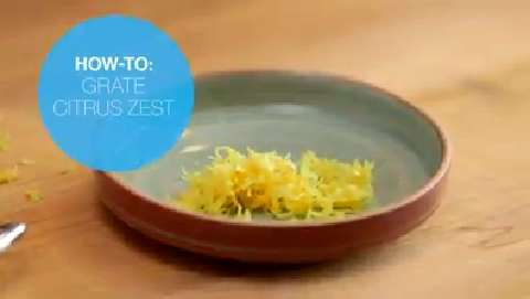How to grate citrus zest