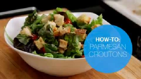 How to make Parmesan croutons