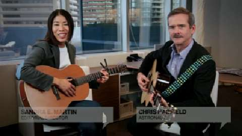 In Canada: Chris Hadfield and Sandra Martin sing together