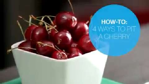 How to pit cherries four ways
